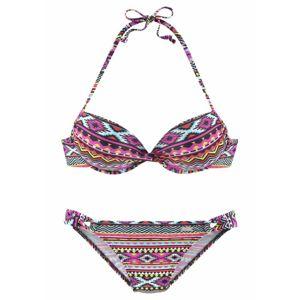 LASCANA Bikini  világos sárga / rózsaszín / fekete / fehér