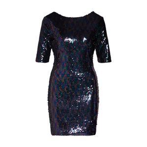 Boohoo Kleid 'Sequin Mini Dress with Scoop Back'  kék