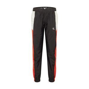 Calvin Klein Jeans Nadrág  fekete / fehér / piros
