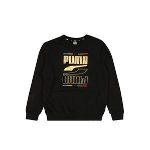 PUMA Tréning póló 'Rebel'  fekete / arany / világoszöld / sárga / vegyes színek