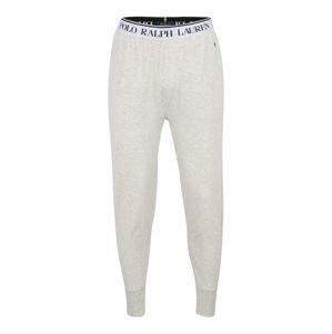 POLO RALPH LAUREN Pizsama nadrágok  szürke / fehér