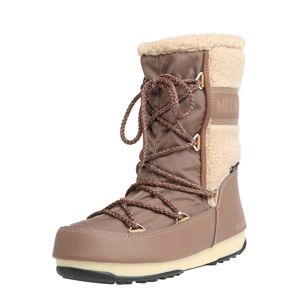 MOON BOOT Snowboots 'MOON BOOT MONACO WOOL'  bézs / barna