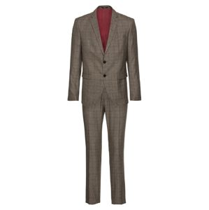 SELECTED HOMME Öltöny 'SLHSLIM-MYLOLOGAN BROWN CHECK SUIT B'  barna