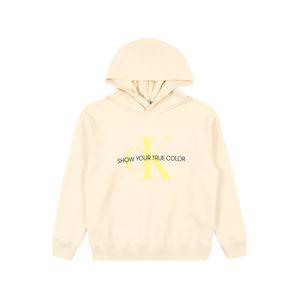 Calvin Klein Jeans Tréning póló 'Natural Dye'  sárga / krém / fekete