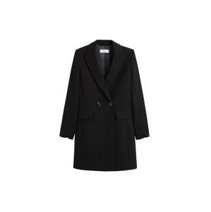 MANGO Átmeneti kabátok 'sugus'  fekete