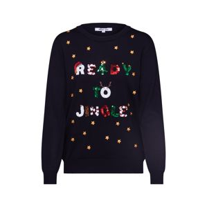 ABOUT YOU Pulóver 'Florentina Christmas Jumper'  fekete