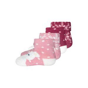 EWERS Zokni  világos-rózsaszín / piszkosfehér / pasztellpiros / fekete