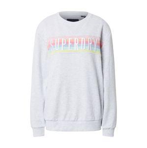 Superdry Tréning póló 'RAINBOW'  fehér / rózsaszín