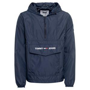 Tommy Jeans Átmeneti dzseki 'Solid Popover'  sötétkék / fehér