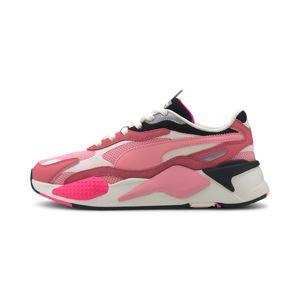 PUMA Rövid szárú edzőcipők 'RS-X³ PUZZLE'  rózsaszín / fekete / fehér