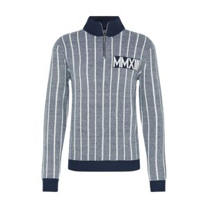 Only & Sons Pullover 'ONSWOPLO 12 STRIPED JAQ KNIT'  sötétkék