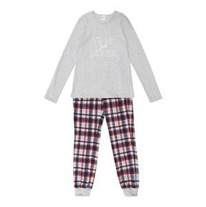 SANETTA Ruhák alváshoz 'Pyjama long '  szürke melír / rózsaszín