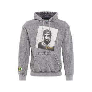 CROSS COLOURS Tréning póló 'Tupac Poet'  fekete / szürke