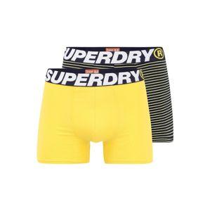 Superdry Boxeralsók  sötétkék / fehér / sárga / fekete