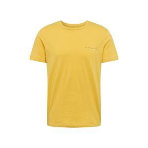 JACK & JONES Póló 'CLAYTON'  sárga / fekete / fehér