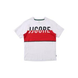 Jack & Jones Junior Póló 'VIKING'  antracit / piros / fehér