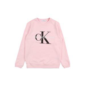 Calvin Klein Jeans Tréning póló  fehér / fekete / rózsaszín