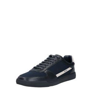 BOSS Rövid szárú edzőcipők  piszkosfehér / sötétkék
