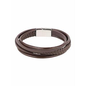ROYAL-EGO Karkötő 'Multi Leather Bracelet'  sötét barna