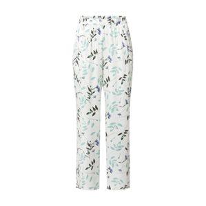 Hunkemöller Pizsama nadrágok  fehér / zöld / barna