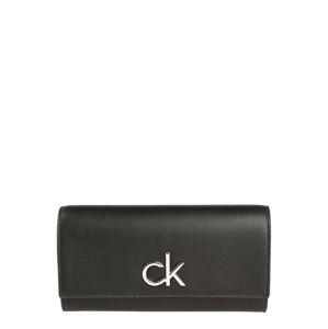 Calvin Klein Pénztárcák 'RE-LOCK TRIFOLD LG'  fekete