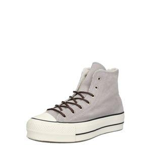 CONVERSE Magas szárú edzőcipők  piszkosfehér / világosszürke / fekete