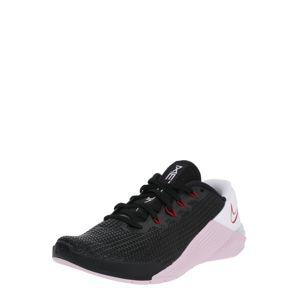 NIKE Sportschuhe 'Metcon 5'  pasztell-rózsaszín / fekete