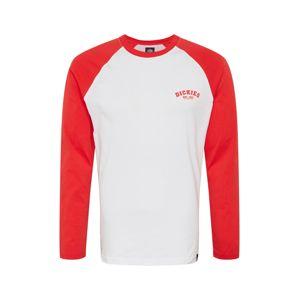 DICKIES Póló 'Baseball'  piros / fehér