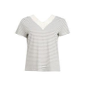 Vero Moda Curve Póló 'HELA'  éjkék / fehér