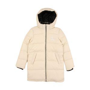 Calvin Klein Jeans Kabát  világosszürke / fehér