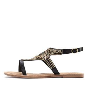 LASCANA Sandale  fekete / arany