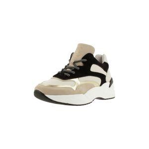 BULLBOXER Rövid szárú edzőcipők  fekete / bézs / ezüst / fehér