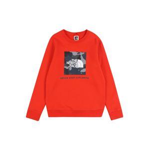 THE NORTH FACE Sweatshirt 'Y BOX CREW'  szürke / piros