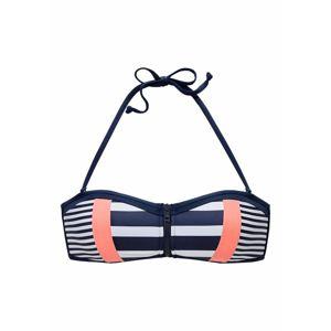 KangaROOS Bikini felső  tengerészkék / sárgabarack / fehér