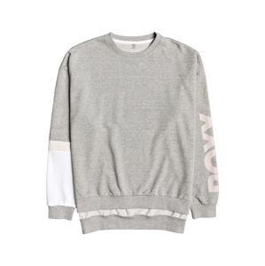 ROXY Sportsweatshirt 'It Might Get Loud'  rózsaszín / világosszürke / fehér