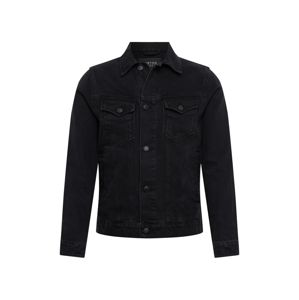 BURTON MENSWEAR LONDON Átmeneti dzseki 'BLACK DENIM  JACKET'  fekete