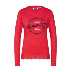 Superdry Póló 'GRAPHIC LACE MIX LS TOP'  piros