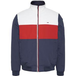 Tommy Jeans Átmeneti dzseki  fehér / tengerészkék / piros