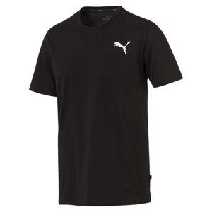 PUMA Funkcionális felső 'Essentials Small Logo'  fekete / fehér