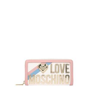 Love Moschino Pénztárcák 'Pebble'  arany / fehér / rózsaszín / kék