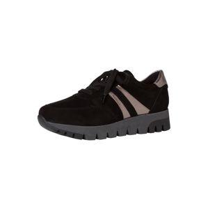 TAMARIS Rövid szárú edzőcipők  fekete / platina