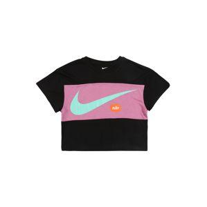 Nike Sportswear Póló 'NIKE GIRLS SWOOSH TOP'  fekete