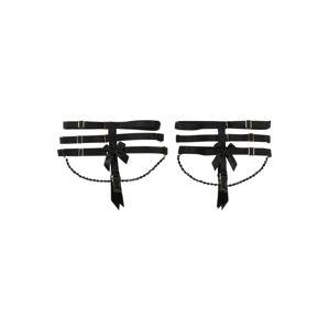 Hunkemöller Harisnyatartók 'Private Suspender Cuffs Chain'  fekete