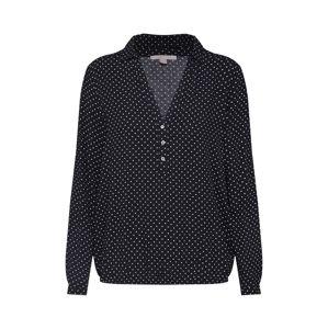 ESPRIT Tunika 'Bubblehem Bluse Punkte'  fekete / fehér