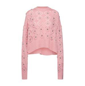 The Kooples Oversize pulóver 'FPUL18010K'  rózsaszín