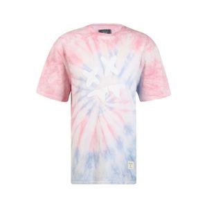 SikSilk Póló 'Steve Aoki'  világos-rózsaszín / világoskék / fehér