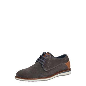 BULLBOXER Fűzős cipő  sötétszürke / barna
