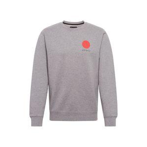 EDWIN Tréning póló 'Japanese Sun'  szürke / narancs