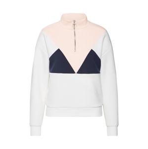 ONLY Sweatshirt 'ONLMIMMI L/S HALF ZIP SWT'  rózsaszín / fehér / kék