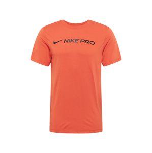 NIKE Funkcionális felső  sötétkék / sötét narancssárga